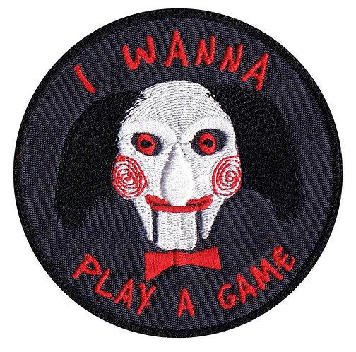 Saw Jigsaw John Kramer Wanna Play A Game Horror Movie - Glue Back To Sew On