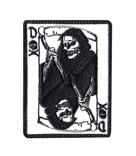 Dealer Of Death Reaper Card - Velcro Back