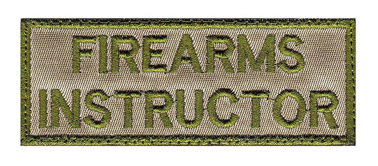 Firearms Instructor - Velcro Back
