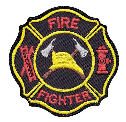 Firefighter Hook Ladder Badge - Glue Back To Sew On