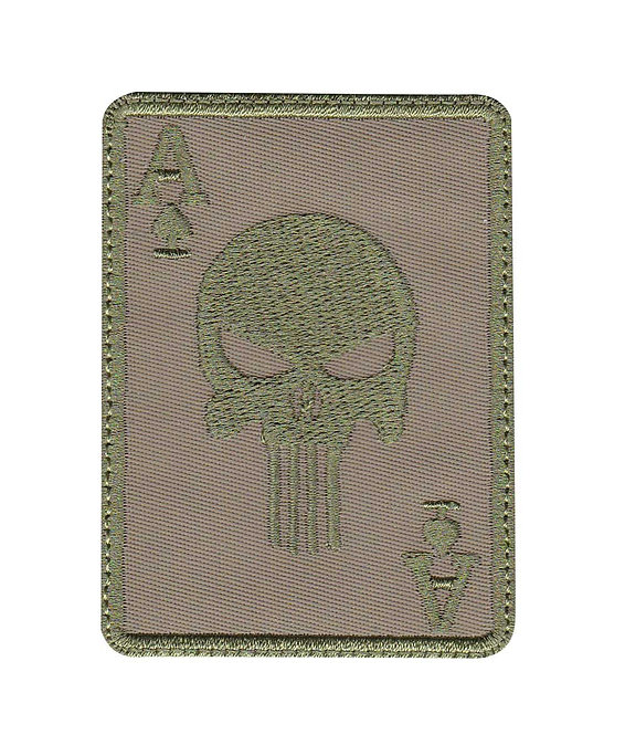 Punisher Skull Ace Card - Velcro Back