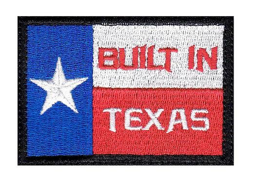 Built In Texas Flag - Velcro Back