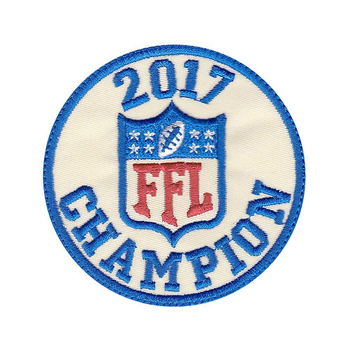 Ffl Fantasy Football 2017 Champion - Glue Back To Sew On