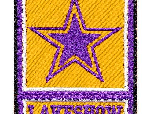 Lakeshow Lakers Basketball Army Star Logo Parody La Los Angeles - Velcro Back