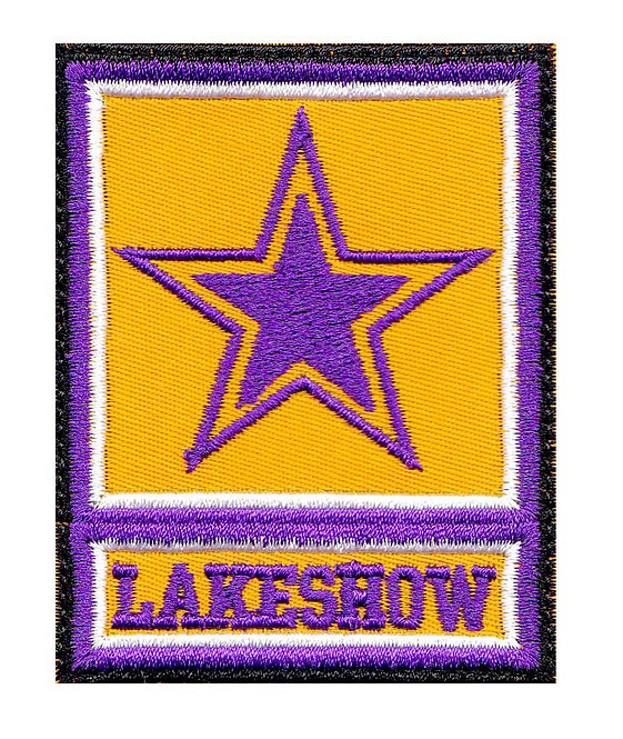 Lakeshow Lakers Basketball Army Star Logo Parody La Los Angeles - Velcro Back