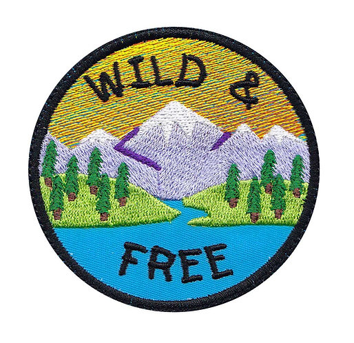 Wild Free Hiking Camping Outdoors - Glue Back To Sew On
