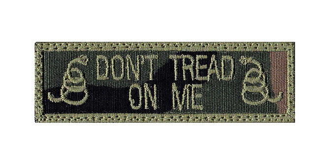 Don't Tread Snake Name Tag - Velcro Back