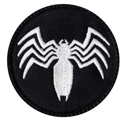 Venom Spider Shape Logo - Velcro Back
