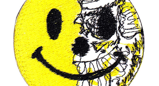 Smiley Face Torn Off - Velcro Back