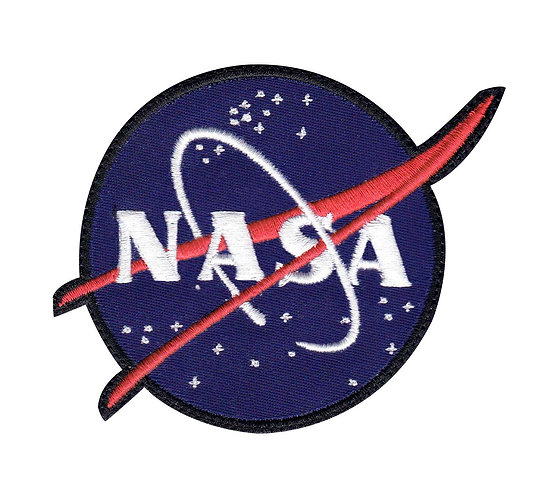 Nasa Space Star Logo - Glue Back To Sew On