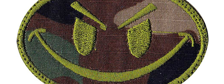 Smiley Face Non-Glow In The Dark - Non Glow - Velcro Back