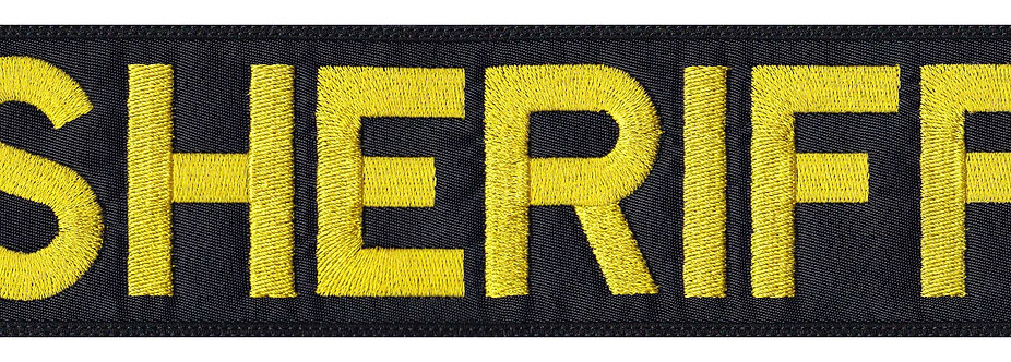 Vest Jacket Sheriff Name Plate Id Tag Cosplay Art - Glue Back To Sew On
