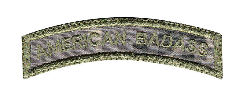 American Badass Small Rocker - Velcro Back