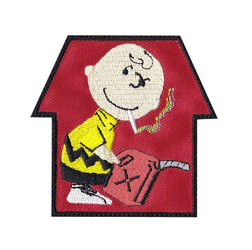 Banksy Charlie Smoking Snoopy - Glue Back To Sew On