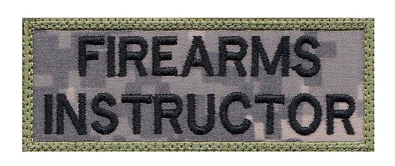 Firearm Instructor Nametag - Velcro Back