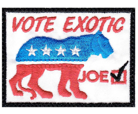 Tiger Joe Lion Exotic Vote - Glue Back To Sew On