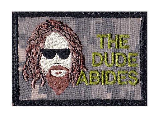 Big Lebowski The Dude Abides - Velcro Back