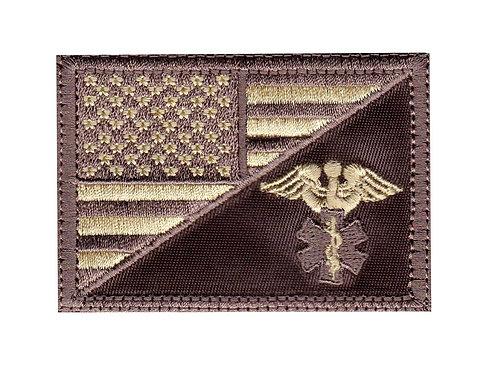 Medic Snake US Half Flag - Velcro Back