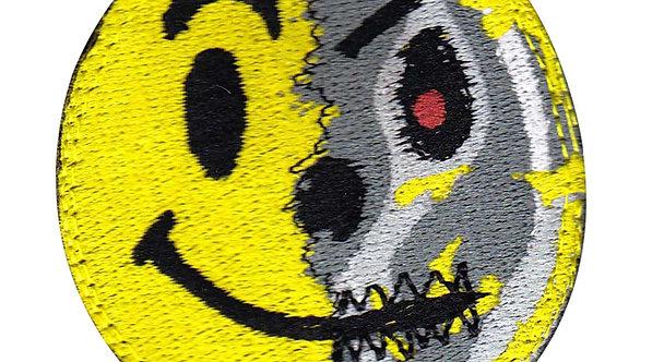 Terminator Smiley Face Torn Off - Velcro Back