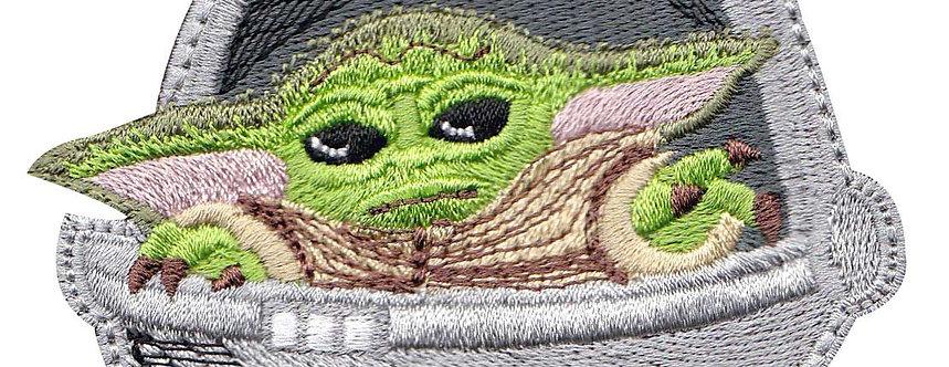 Baby Yoda Pod Force Mandalorian - Velcro Back