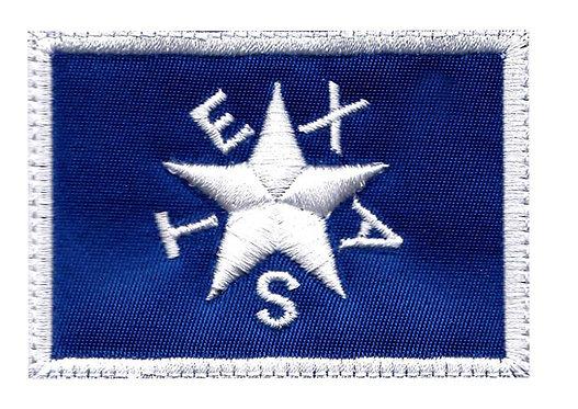 Texas Logo Square - Velcro Back