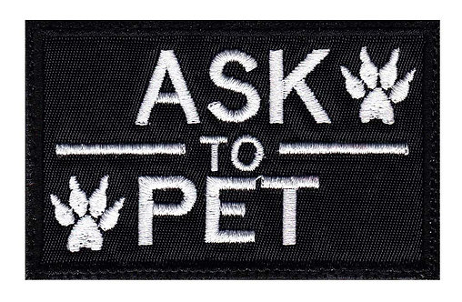 Ask To Pet Service Animal Companion - Velcro Back