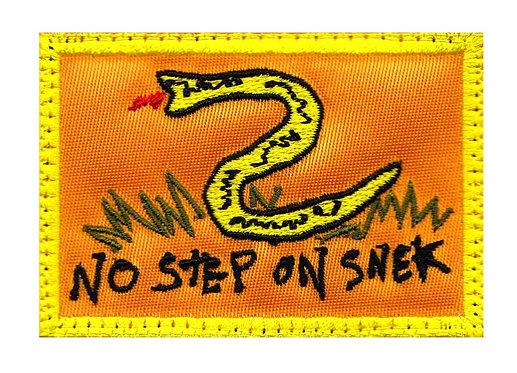 No Step On Snek Don't Tread Snake - Velcro Back