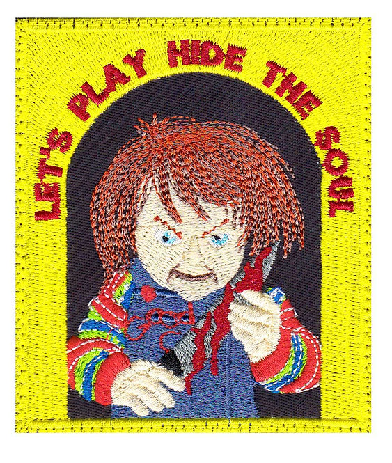 Chucky Childs Play Horror Movie - Glue Back To Sew On