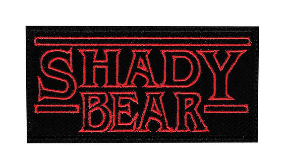 Shady Bear Stranger Things Art Bear Culture Lifestyle - Glue Back To Sew On