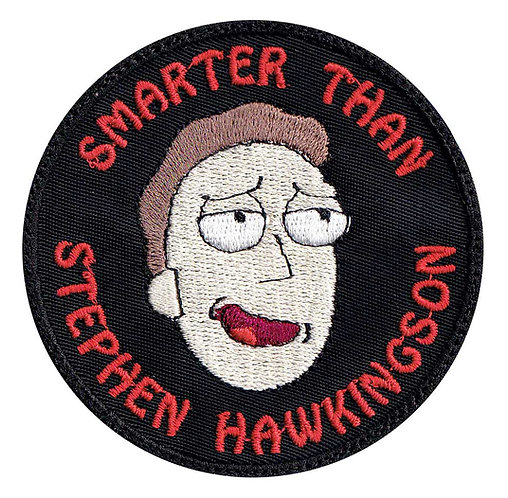 Rick Morty Jerry Smith Smarter Than Stephen Hawkingson - Glue Back To Sew On