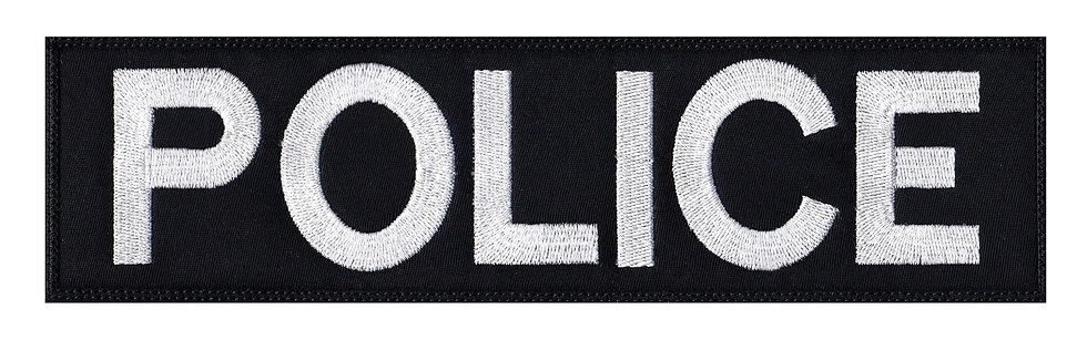 Vest Jacket Police Name Plate Id Tag - Velcro Back
