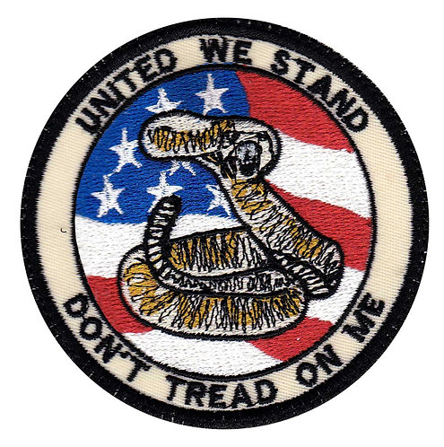 United We Stand Don't Tread On Me - Velcro Back