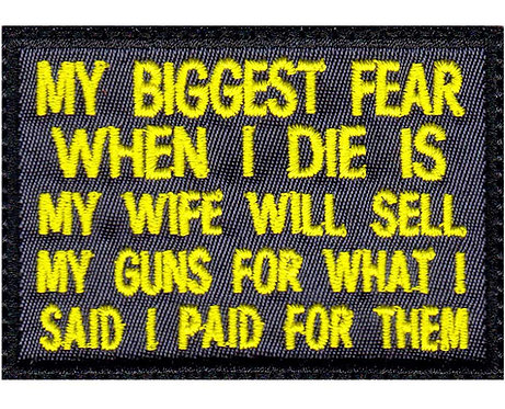 Biggest Fear Wife Sell Guns For What I Said I Paid For Them Glue Back To Sew