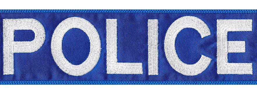 Vest Jacket Police Name Plate Id Tag Cosplay Art - Glue Back To Sew On