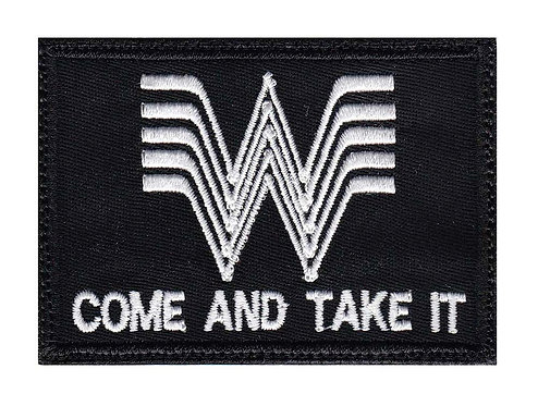 Whataburger Come And Take It Guns - Velcro Back