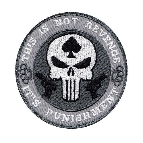 This Is Not Revenge It'S Punishment Punisher Skull - Velcro Back