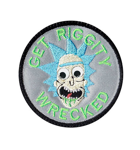 Googly Eye Rick Sanches Morty Riggity Wrecked - Glue Back To Sew On