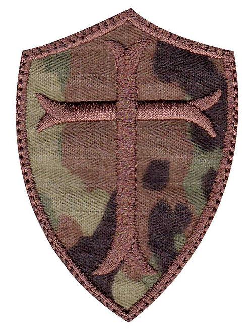 Christian Cross Shield - Velcro Back