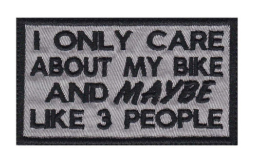 Only Care About My Bike & Maybe Like 3 Other People Motorcycle Glue Back To Sew