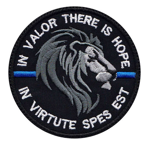 Lion Police Line In Valor There Is Honor Latin - Velcro Back