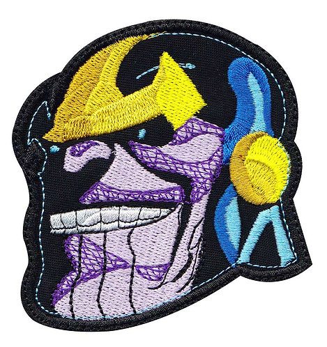 Thanos Head Avengers Infinity - Glue Back To Sew On
