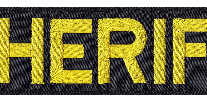Vest Jacket Sheriff Name Plate Id Tag Cosplay Art - Velcro Back