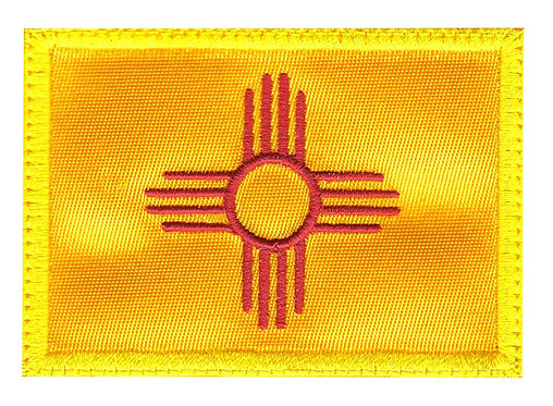 New Mexico Zia Symbol State Flag Square - Velcro Back