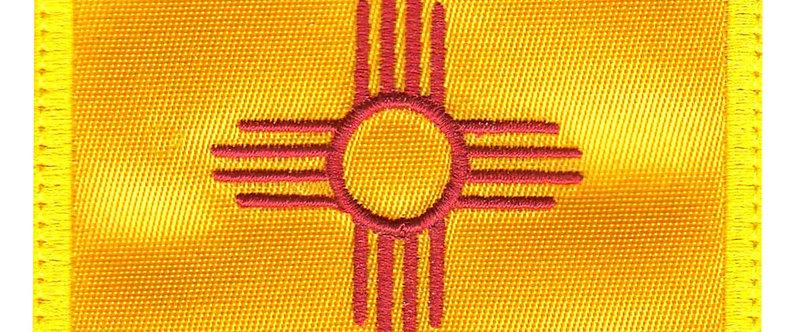 New Mexico Zia Symbol State Flag Square - Velcro Back