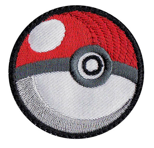 Pokeman Poke Ball Ash Pikachu - Glue Back To Sew On
