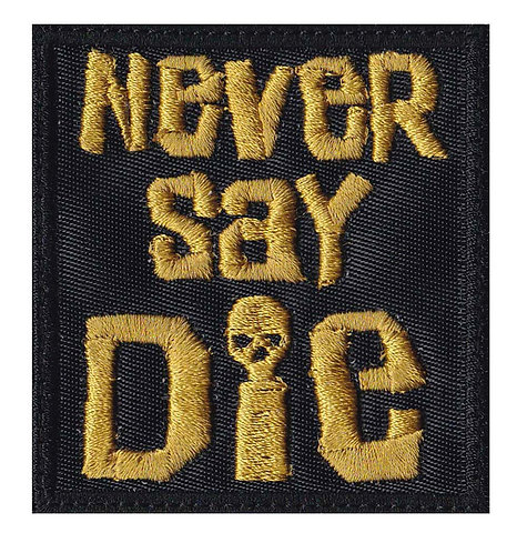Never Say Die Goonies Skull Pirates - Velcro Back