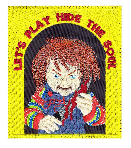 Chucky Childs Play Horror Movie - Velcro Back