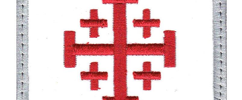 Righteous Christian Cross Square - Velcro Back