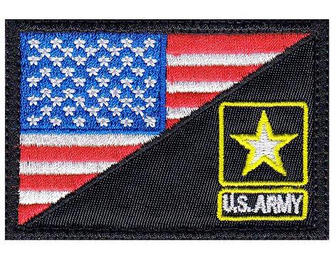 Us Army Star Half Flag - Glue Back To Sew On