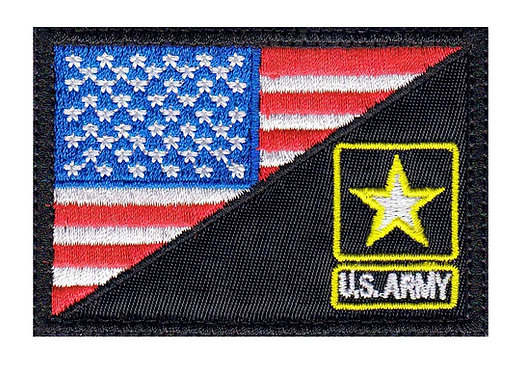 Us Army Star Half Flag - Glue Back To Sew On